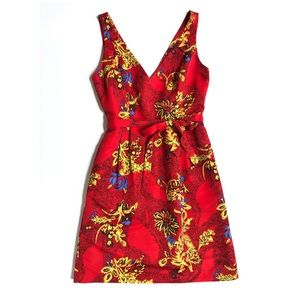 Plenty by Tracy Reese red floral sleeveless dress